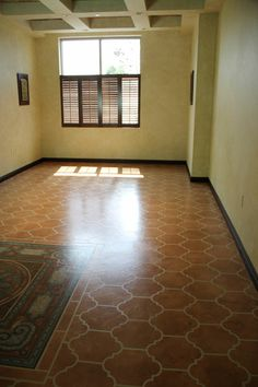 Stenciled floor-DIY awesomeness