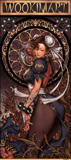 art,арт,красивые картинки,art девушка,Chun-Li,Street Fighter,Уличный Боец,Игры,Игровой арт,game art,Woo Kim