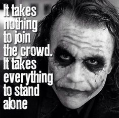That's why I love you Joker and be your biggest fan because I am Loner AngelicsilverDemon with the Latin-Greek names and Greek eponym Evangelio - Evaggelos Fergadis Joker Qoutes, Best Joker Quotes, Badass Quotes, Best Quotes, Dark Quotes, Wisdom Quotes, True Quotes, Funny Quotes, Sarcastic Qoutes