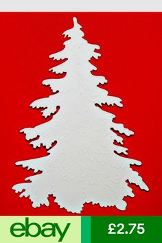 Die Cutting Cartridges Crafts #ebay Father Christmas, Christmas Paper, Xmas, Christmas Ornaments, Paper Cutting, Die Cutting, Cut Out Art, Tree Stencil, Tree Silhouette