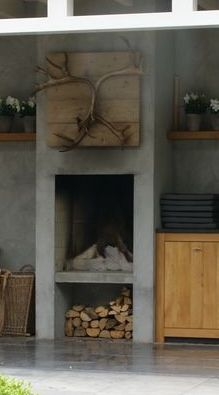 9 Hardy Tips AND Tricks: Fireplace Built Ins With Seating lobby fireplace design.Concrete Fireplace With Shelves craftsman fireplace surround.Fireplace Living Room Chip And Joanna Gaines. Concrete Fireplace, Fireplace Garden, Fireplace Design, Freestanding Fireplace, Victorian Fireplace, Backyard Fireplace, Fireplace Beam, Fireplace Seating, Diy Fireplace