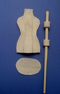 игольница мини-манекен - Ярмарка Мастеров - ручная работа, handmade