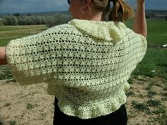 Clusters and Vs Plus Size Crochet Shrug