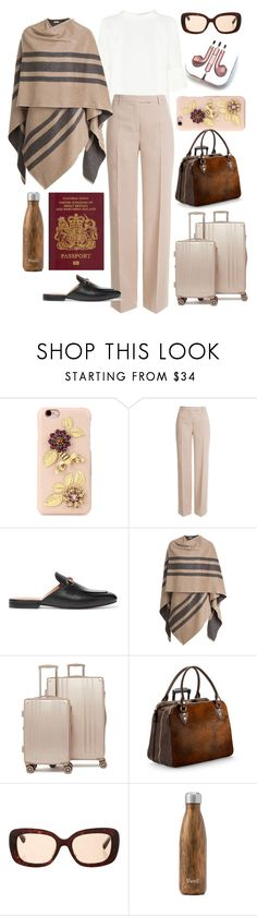 """TRAVEL in style!"" by mara-wink ❤ liked on Polyvore featuring Dolce&Gabbana, Emilio Pucci, Gucci, Burberry, CalPak, Aspinal of London, Prada, West Elm and PhunkeeTree"