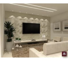 minha sala education ba part 3 - Education Living Room Tv Unit Designs, Ceiling Design Living Room, Tv Wall Design, False Ceiling Design, Tv Wall Decor, Home Decor Furniture, Home Living Room, Home Decor Accessories, Home Interior Design