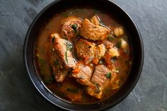 Spicy Pork Stew with Chickpeas and Sausage