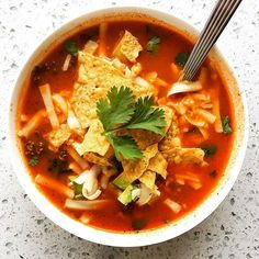 making my favorite authentic mexican tortilla soup adapted from @rick_bayless for the BILLIONTH time…