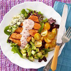 Southwestern Salmon Cobb Salad (Printer-Friendly Version) | Eating Well