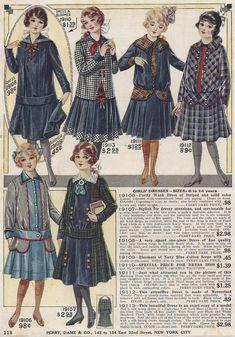 1917 young girls fashions