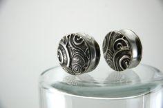 swirly heart ear plugs/gauges by @Danielle Lampert Lampert Lampert of Lucy and Mabel #SFETSYSPLASH40 June3