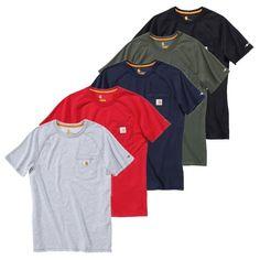 Carhartt Force Funktions T-Shirt in verschiedenen Farben - GenXtreme #Shirt #weiß #rot #blau #dunkelgrün #schwarz #Carhartt #GenXtreme