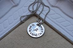 If you're a bird I'm a bird Hand Stamped by SilverWingsDesigns