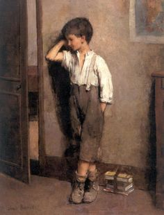 """The Penitent Schoolboy"". Jean Béraud (1849 – 1935), French painter."