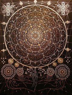 """Aesthetic Sharer ZHR on Twitter: """"Joma Sipe… """" Geometry Art, Sacred Geometry, Geometry Tattoo, Art Fractal, Art Visionnaire, Art Ancien, Mystique, Illustration, Visionary Art"""