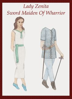 Brothers Of Wharrior Paper Dolls: Zenita