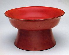 High-Footed Bowl  Period: Momoyama period (1573–1615) Date: early 17th century Culture: Japan Medium: Negoro ware; red lacquer on black lacquer