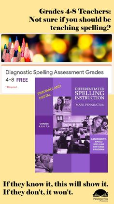 Do your grades 4, 5, 6, 7, and 8 students need grade-level or remedial instruction? There's only one way to know for sure and know precisely what common spelling patterns have and have not yet been mastered. The 102 item Diagnostic Spelling Assessment. Get the FREE paper copy, audio, Google form and sheet of this teachable assessment with a mastery matrix. Response To Intervention, Reading Assessment, Reading Intervention, Teaching Reading Strategies, Reading Fluency, Reading Resources, Spelling Lists, Spelling Rules, Common Core Vocabulary