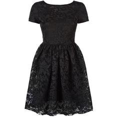 Maje Rimia Embroidered Mini Dress ($390) ❤ liked on Polyvore featuring dresses, party dresses, short skirts, black mesh dress, floral dress and black mini skirt