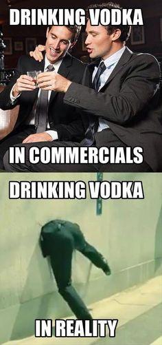Wodka trinken - In der Werbung / In der Realität