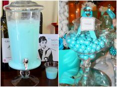 Make all the decorations something blue and have a Breakfast at Tiffany's theme bridal shower party! It's great for home based party.