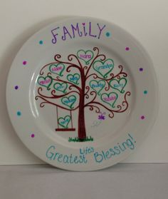 Family Tree Decorative Plate