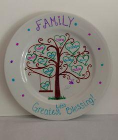 Family Tree Decorative Plate