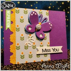 Sizzix Inspiration-Butterfly Triplits by Anna Wight-cute stitching idea