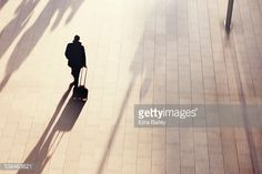 Stock Photo : A businessman walking briskly through the city