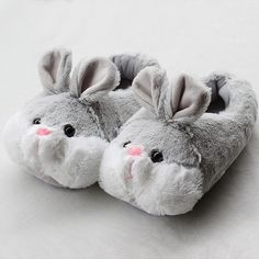 e1a92e96f34 Super cute 2015 winter new rabbit Faux fur shoes lovely lover rabbit  slippers soft outsole cotton-padded Bunny shoes