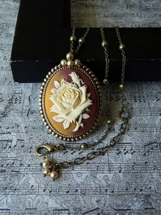 DREAMLIKE  Ivory Rose VictorianRetro Cameo by maytedesigns on Etsy, $25.00~for the chandelier