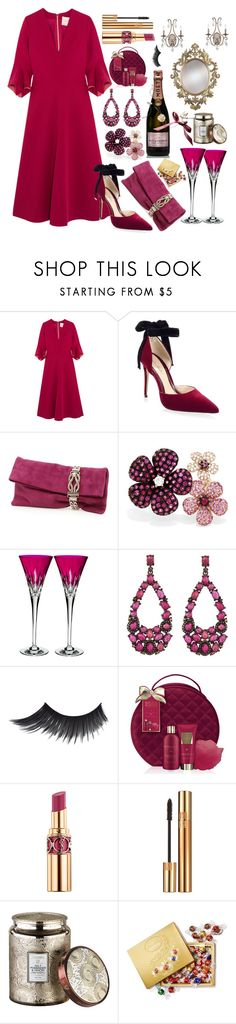 """""""Find something special with him❤"""" by pulseofthematter ❤ liked on Polyvore featuring Roksanda, Monique Lhuillier, Jimmy Choo, Effy Jewelry, Waterford, Bavna, MoÃ«t & Chandon, Baylis & Harding, Yves Saint Laurent and Voluspa"""