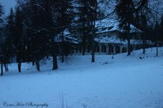 House hidden in winter night. #night #house #winter