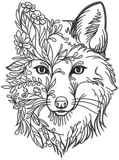 Fox in Flowers | Urban Threads: Unique and Awesome Embroidery Designs Crewel Embroidery Kits, Paper Embroidery, Hand Embroidery Designs, Embroidery Patterns, Embroidery Supplies, Embroidery Needles, Flower Embroidery, Embroidery Tattoo, Embroidery Alphabet