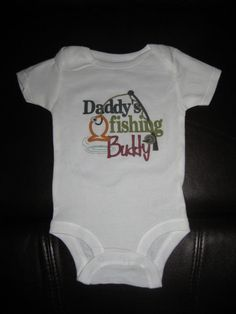 Custom Baby Onesie  Daddys Fishing Buddy by weddingdecals on Etsy, $15.99