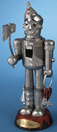 Wooden Wizard of Oz Tin Man Christmas Nutcracker