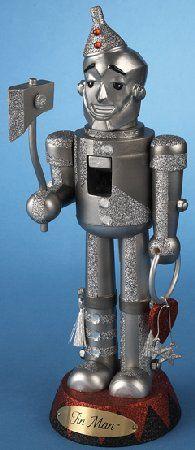 Wooden Wizard of Oz Tin Man Christmas Nutcracker