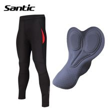 US $42.56 SANTIC Padded Winter Bike Pants Women Composite Fleece Thermal Windproof MTB Bicycle Cycling Pants Pantalones Ciclismo Invierno. Aliexpress product