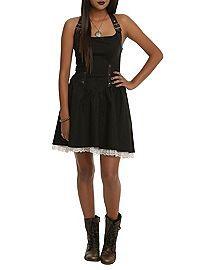 HOTTOPIC.COM - Black Strap Halter Dress