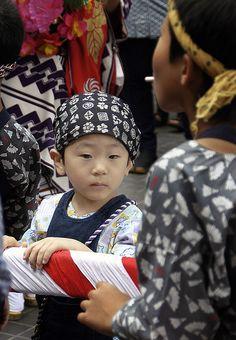 Kids dressed in Matsuri costume at Narita-san Gion Matsuri (festival), Japan