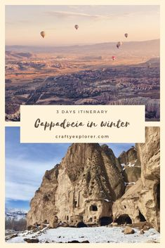 Cappadocia In Winter: The Best 3 Day Itinerary Do you dream of visiting Cappadocia? Winter is the best season to visit this incredible place! Find out what to do on this 3 days itinerary! Underground Cities, Best Seasons, Air Balloon Rides, Turkey Travel, Cappadocia, Winter Travel, Travel Guides, Travel Tips, Asia Travel