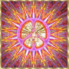 gold center spiritual peace sign