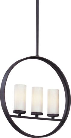 Troy Lighting F2803 Eclipse 3 Light Linear Chandelier with Opal Glass Federal Bronze Indoor Lighting Chandeliers