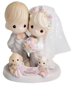 "Precious Moments ""Till The End Of Time"" Wedding Cake Topper"