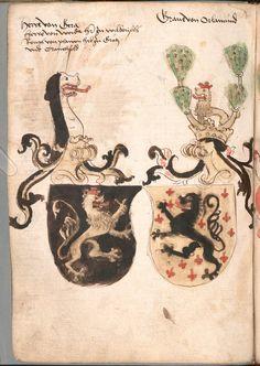 Wernigeroder (Schaffhausensches) Wappenbuch Süddeutschland, 4. Viertel 15. Jh. Cod.icon. 308 n  Folio 186v