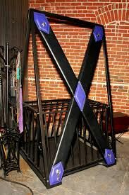 Saint Andrew's Cross (BDSM) - Wikipedia, the free encyclopedia Playroom Furniture, Furniture Plans, Cool Furniture, Dungeon Room, St Andrews Cross, Tools And Toys, Adult Fun, Red Rooms, Play Spaces