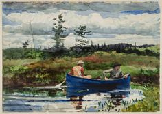 The Blue Boat.  1892. Watercolor.  Winslow Homer (American, 1836–1910)