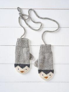Ravelry: Penguin Mittens by Button and Blue . Ravelry: Penguin Mittens by Button and Blue Record of Knitting Ya. Knitting For Kids, Knitting For Beginners, Loom Knitting, Knitting Stitches, Knitting Projects, Baby Knitting, Knitting Patterns, Crochet Patterns, Knitting Tutorials