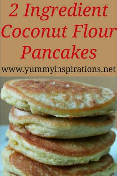 Gluten Free Coconut Flour Pancakes Recipe – Easy Dairy Free, Paleo, Low Carb & Keto Diet friendly pancake recipe – perfect for a gluten free breakfast. Coconut Flour Pancakes, Pancakes Easy, Breakfast Pancakes, Breakfast Casserole, Dinner Pancakes, Keto Pancakes, Easy Waffle Recipe, Waffle Recipes, Brunch Recipes