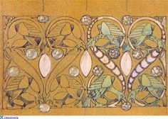 Art Nouveau jewellery. Rene Lalique  Co. - XIII - I take it that these are drawings made by him as studies before making the Jewelry. Russian site connects to many Lalique pages there.