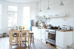 Kitchen of my favorite interior author Jane Cumberbatch (Pure Style)